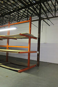 Commercial Cantilever Steel Storage Rack Heavy Duty Double sided