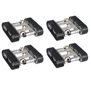 4x Diy Arduino Tracked Robot Tank Chassis Smart Car Platform Dual Dc 9v Motor