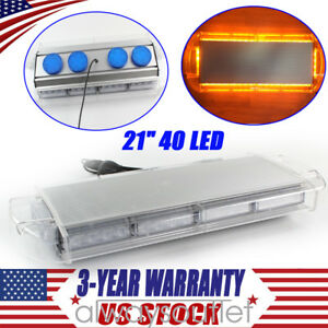 21 led Warn Strobe Work Light Bar Flash Lamp Beacon Tow plow Truck Amber Yellow