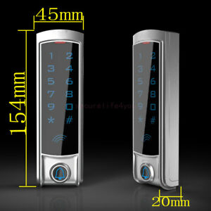 12v Dc Waterproof Metal Touch Keypad Ip68 Wiegand 26 Access Control For Id Cards