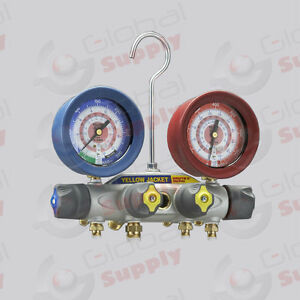 Yellow Jacket 46010 Brute Ii Manifold Only 3 1 8 Gauges R 22 404a 410a