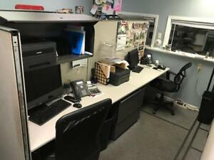 Used Knoll Office Cubicles 14 Panels 5 Desk Tops More