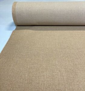 Vintage Oatmeal Tan Tweed Automotive Seat Cover Fabric Upholstery Auto 55 w