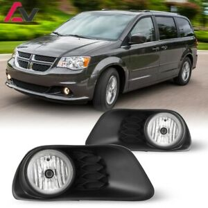 11 19 For Dodge Grand Caravan Clear Lens Pair Fog Light Lamp Wiring Switch Dot