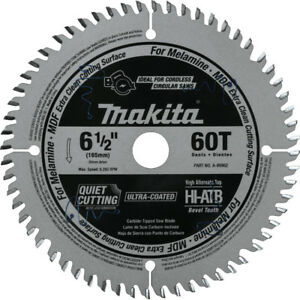 Makita 6 1 2 In 60t atb Carbide tipped Plunge Saw Blade A 99982 New