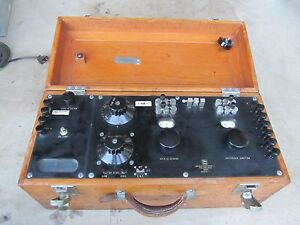 Vintage Leeds Northrup Co Potentiometer Test Equipment Voltage Galvanometer