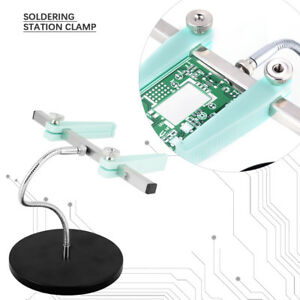 Soldering Station Clamp Pcb Circuit Board Holder Fixture Bracket W Metal Base