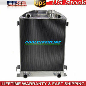 62mm 3row Aluminum Radiator For 32 34 Ford Flat Head Tuck V8 Engines 1939 1940
