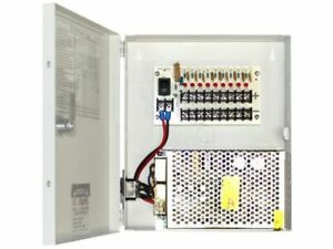 Power Supply Lock Box 9 Channel 10 Amp Cctv Security 12 Volt Resettable