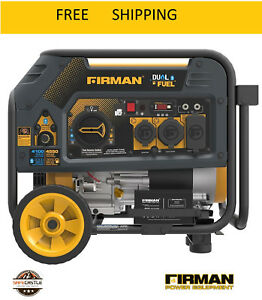 New Firman Hybrid Series H03651 3650 4550 Watt Dual Fuel Generator Yellow