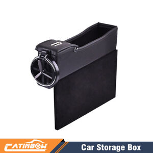 Car Seat Storage Box Cup Holder Storage Catcher Gap Filler Coin Collector Right