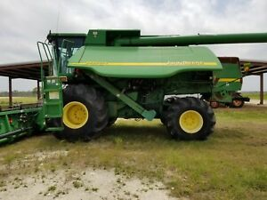 John Deere 9650 Cts 4x4 Combine For Seed With Jd 625r Header W Trailer 4wd