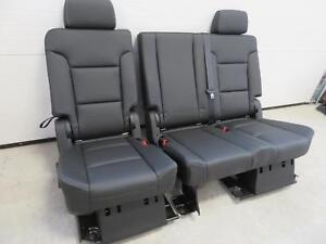 2015 2018 Yukon Tahoe Escalade Second Seat 2nd Row Bench Seat Black Leather