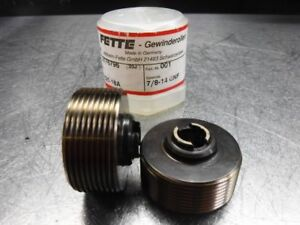Lmt Fette Thread Rolling Roller Head 7 8 14 Unf Dies Set 2176796 loc429
