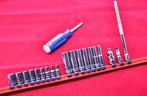 Williams Tools 20 Piece 1 4 Drive Socket Extension Set