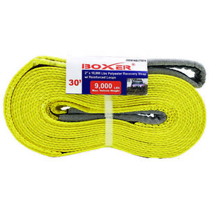 2 X 30 Heavy Duty Recovery Strap With Loop Ends 77074