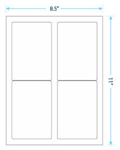 10 Sheets 40 Blank Return Address Labels 5 X 3 1 2 Free Shipping