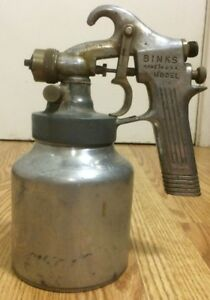 Vintage Binks Spray Gun Model 35 Touch Up Paint Sprayer Made In Usa Solid