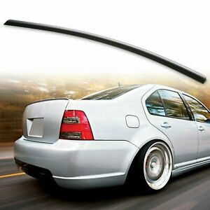 Fyralip Rear Trunk Lip Spoiler For 98 05 Vw Jetta Mk4 Volkswagen Unpainted Black