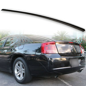 Fyralip Trunk Lip Spoiler For Dodge Charger 05 09 Lx Painted Brillian Black Pxr