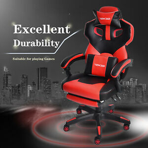 Ergonomic Swivel Gaming Chair Computer Recliner Executive Racing Seat W footrest