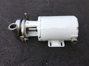 Tri clover 3 4 Hp Sanitary Centrifugal Pump With 2 Tri clamp Connections