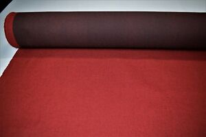 Vintage Crimson Red Tweed Automotive Seat Cover Fabric Upholstery Auto 55 w