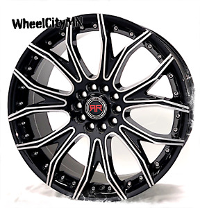 18 Inch Gloss Black Revolution Racing R04 Wheels Fits Nissan Sentra Altima 5x4 5