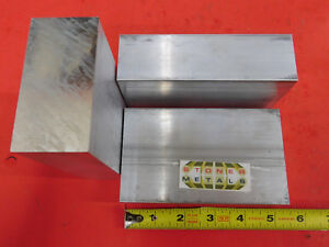 3 Pieces 1 1 2 X 3 Aluminum 6061 Flat Bar 5 Long Solid T6511 New Mill Stock