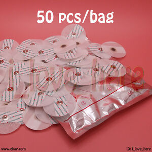 Electrode Pads Portable Handheld Home Ecg Ekg Heart Monitor Machine 50 Pcs pack