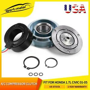 A C Compressor Clutch Assembly Fit For Honda 1 7l Civic 2001 2002 2003 2004 2005