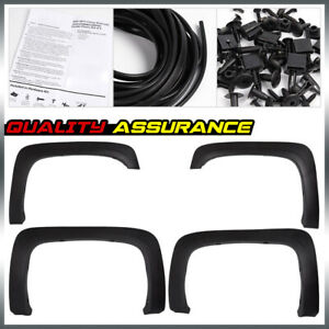Textured Fit For 2007 2013 Chevy Silverado1500 2500hd 3500hd Fender Flares Black