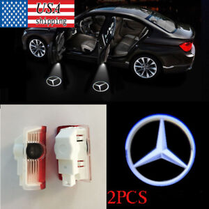 For Mercedes Benz 2 Welcome Car Led Door Projector Logo Ghost Shadow Light