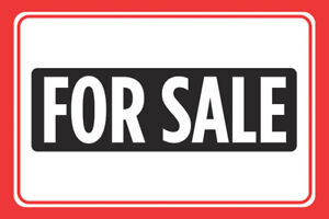 For Sale Print Red Signs Sell Window Poster Real Estate Car Auto Sign M 12x18