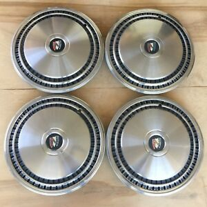 1980 1986 Buick Lesabre Estate Wagon Electra Wheel Hubcaps 15 Factory Oem Set 4