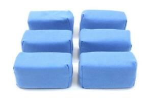 6 Pack Microfiber Suede Coating Applicator 3 5 X 2 5 X 1 5