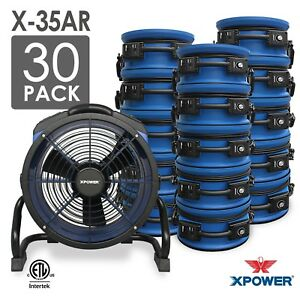 Xpower X 35ar 1 4 Hp High Temperature Sealed Motor Axial Fan Air Mover 30 Pack