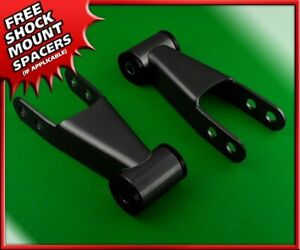 Rear 2 Leveling Lift Kit Steel Shackles For 1997 2003 Dodge Durango 2wd 4wd