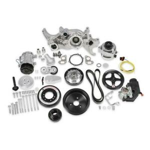 Holley Engine Accesory Kit 20 190p Premium Black Mid Mount For Chevy Ls7