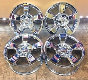 20 20 Inch Chevrolet Silverado Tahoe Suburban Chrome Wheels Rims Set Of 4 6x139