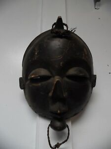 African Mask Large Hand Carved Approx 17 X 11
