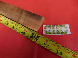 1 4 x 1 1 2 C110 Copper Bar 36 Long Solid Flat 25 Bus Bar Stock H02