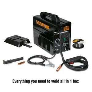 Welder 90 Amp Flux Wire Welder no Gas Required new In Box Includes Wire