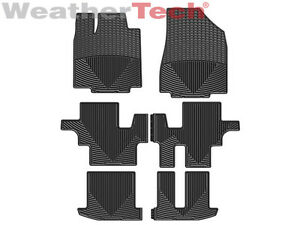 Weathertech All Weather Floor Mats For Pathfinder Qx60 1st 2nd 3rd Row Black