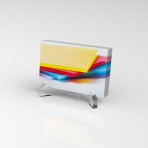 Business Card Holder Acrylic Stand Landscape Business Card card Dispenser