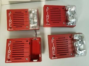 Lot Of 4 Simplex 4903 9219 Fire Alarm Horn strobe