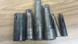 Lot Of 6 Morse Taper Sleeve Adapter Lathe Machinist Mt4 Mt5 Tool Holders