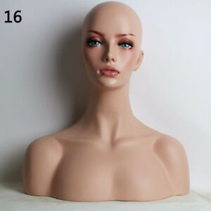 New Luxury Realistic Mannequin Head Fiberglass Hat Wig Glasses Mold Stand No 16