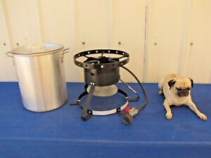 Backyard Pro 30 Qt Aluminum Turkey Deep Fryer Kit Steamer Pot Propane