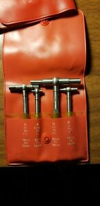 Starrett Telescoping Gage Set S579g 4 Piece Set